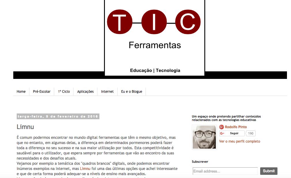 TIC Ferramentas | Limnu's educational tools