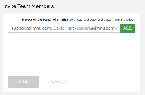 Copy and paste that list into the email invite box